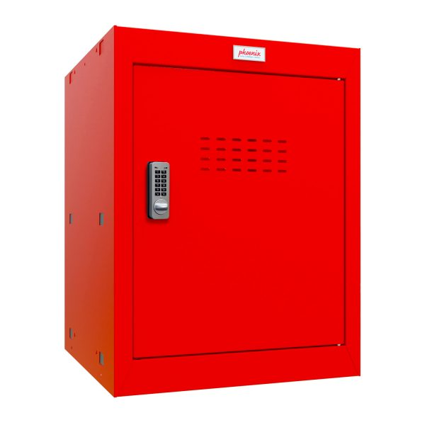 Phoenix CL0544RRE Size 2 Red Cube Locker with Electronic Lock