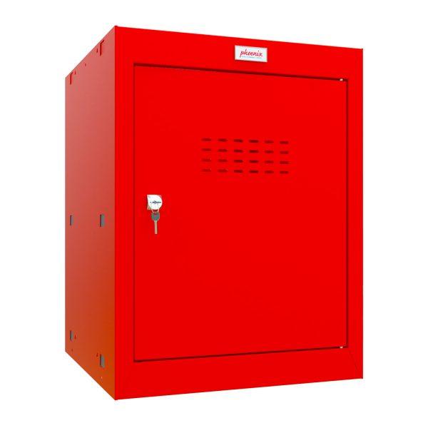 Phoenix CL0544RRK Size 2 Red Cube Locker with Key Lock