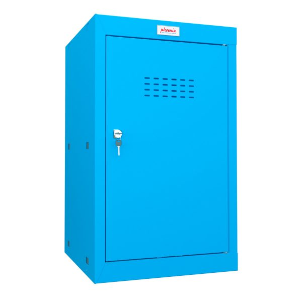 Phoenix CL0644BBK Size 3 Blue Cube Locker with Key Lock