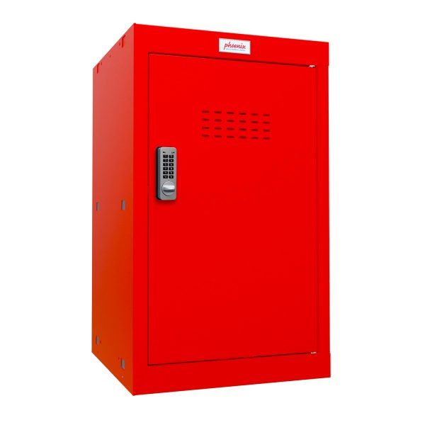 Phoenix CL0644RRE Size 3 Red Cube Locker with Electronic Lock
