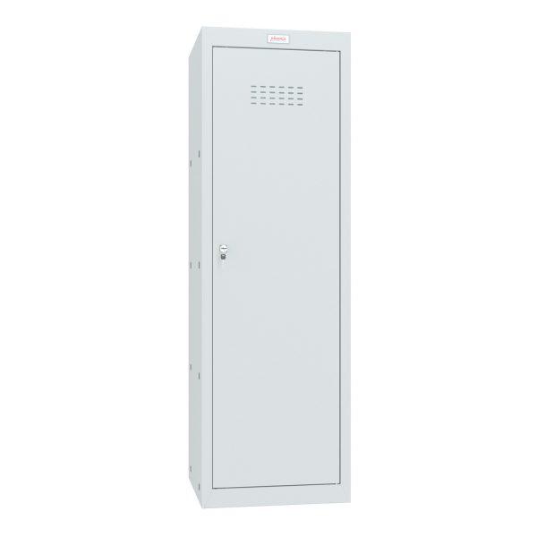 Phoenix CL1244GGK Size 4 Light Grey Cube Locker with Key Lock