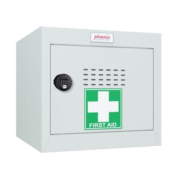 Phoenix MC0344GGC Size 1 Light Grey Medical Cube Locker with Combination Lock