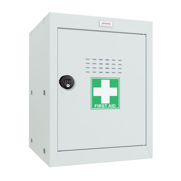 Phoenix MC0544GGC Size 2 Light Grey Medical Cube Locker with Combination Lock