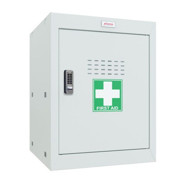 Phoenix MC0544GGE Size 2 Light Grey Medical Cube Locker with Electronic Lock
