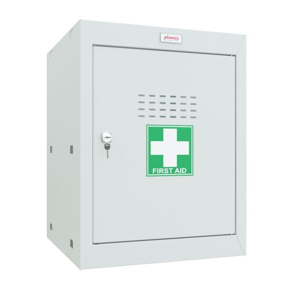 Phoenix MC0544GGK Size 2 Light Grey Medical Cube Locker with Key Lock