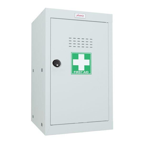 Phoenix MC0644GGC Size 3 Light Grey Medical Cube Locker with Combination Lock