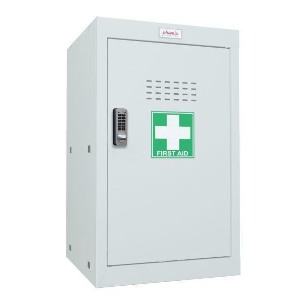 Phoenix MC0644GGE Size 3 Light Grey Medical Cube Locker with Electronic Lock