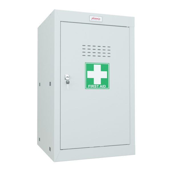 Phoenix MC0644GGK Size 3 Light Grey Medical Cube Locker with Key Lock