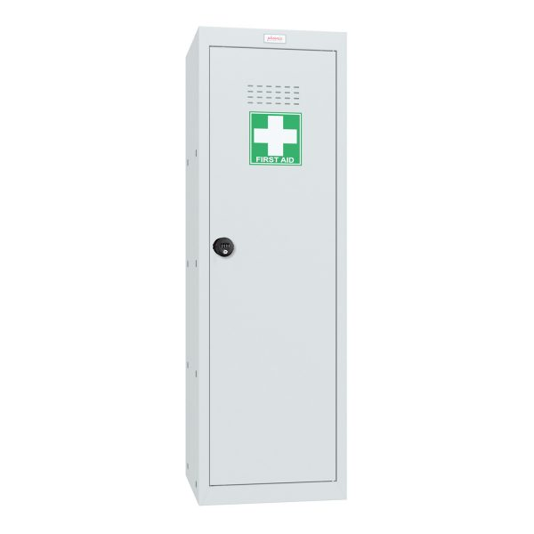 Phoenix MC1244GGC Size 4 Light Grey Medical Cube Locker with Combination Lock